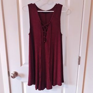 Audrey 3+1 Maroon Dress